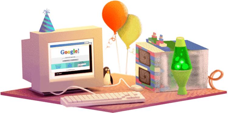 17 岁生日的 Google Doodle