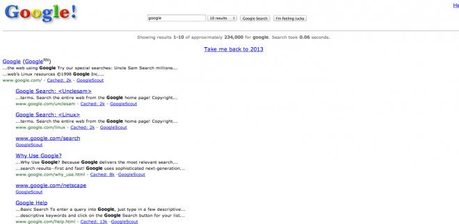 谷歌15年前